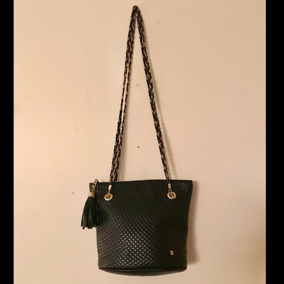 a79e809446bcb Vintage Bally Quilted Lambskin Chain Strap Bag